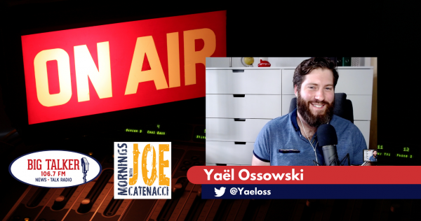 Yaël Ossowski Guest Hosts on Big Talker 106.7FM in Wilmington, NC | October 22, 2020