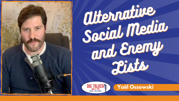 Yaël on Joe Catenacci Show: Alexis de Tocqueville and alternative social media