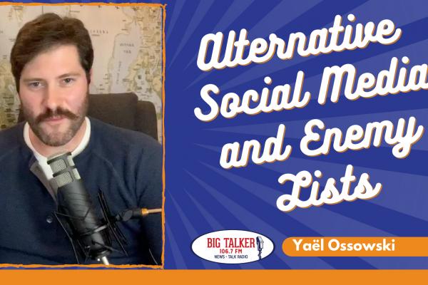Yaël on Joe Catenacci Show: Alexis de Tocqueville and alternative social media