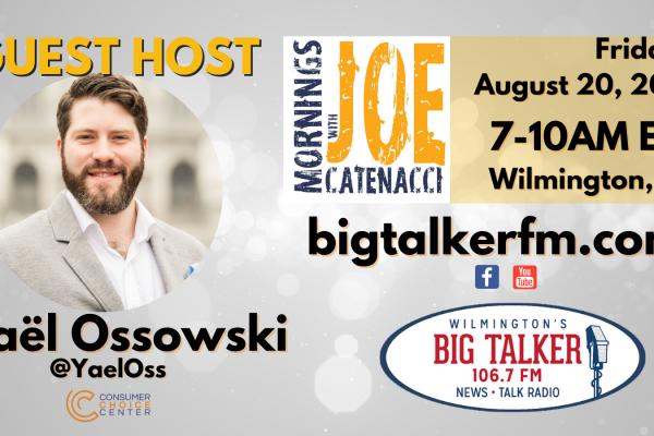 Yaël Ossowski guest hosts on Big Talker 106.7FM   August 20, 2021